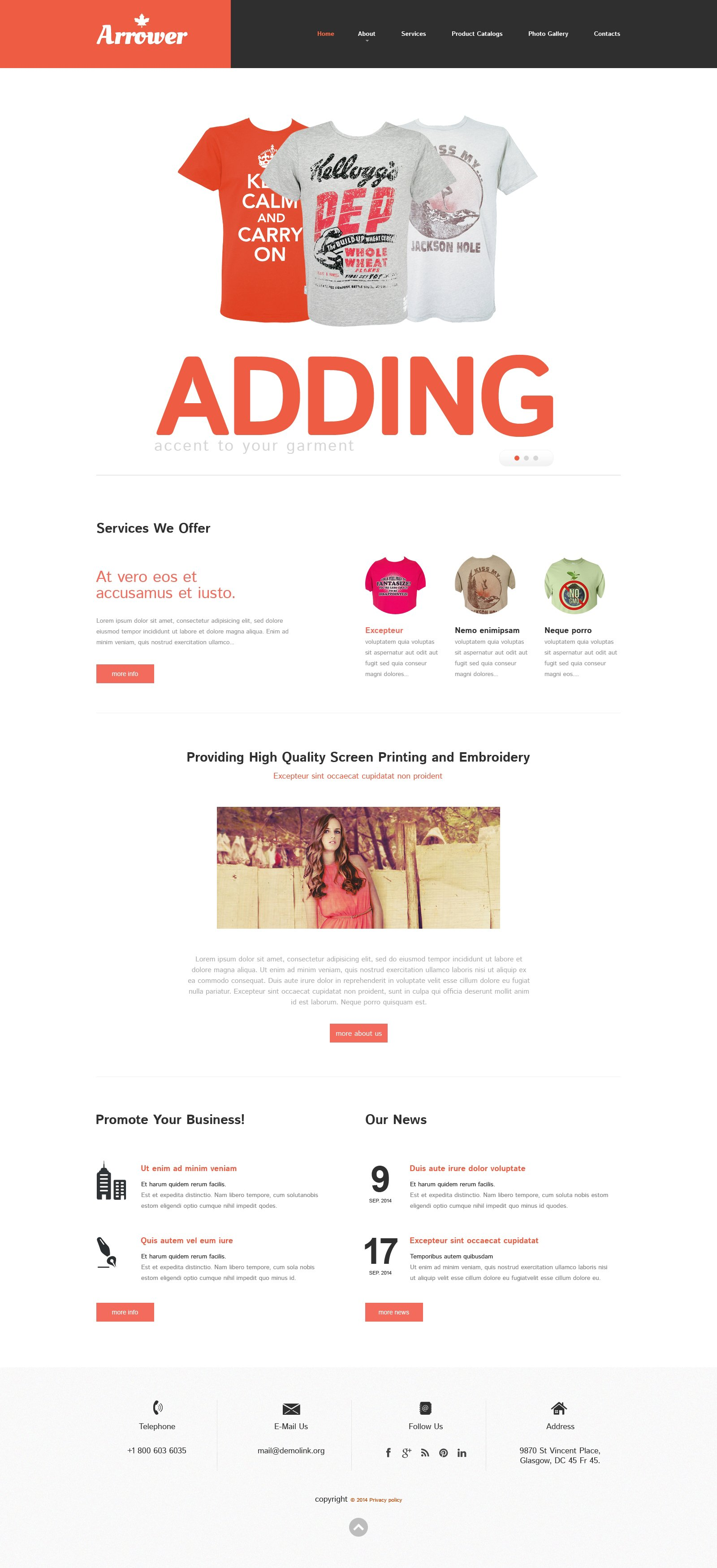 Plantilla Web Responsive para Sitio de Tienda de Impresión #49446