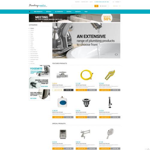 Plumbing Suppliers - HTML5 ZenCart Plumbing store Template
