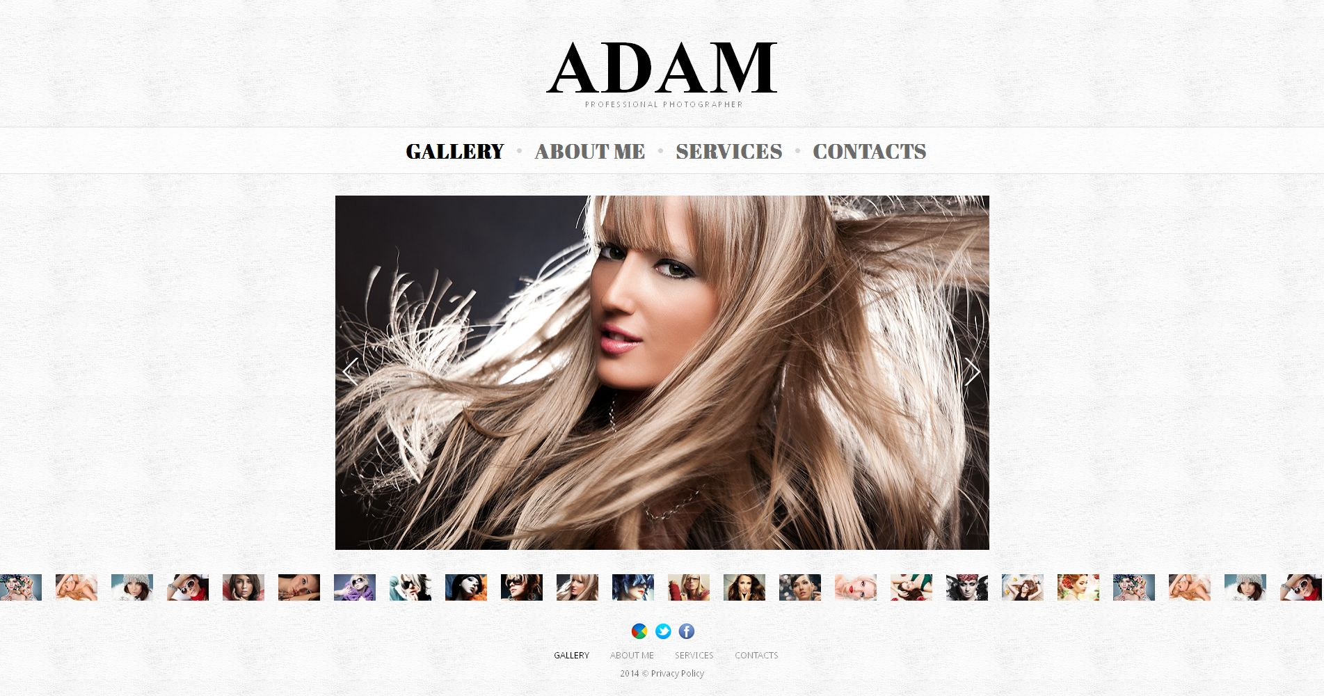 Prémium Fényképész portfóliók témakörű Fényképgaléria sablon 49478 - képernyőkép