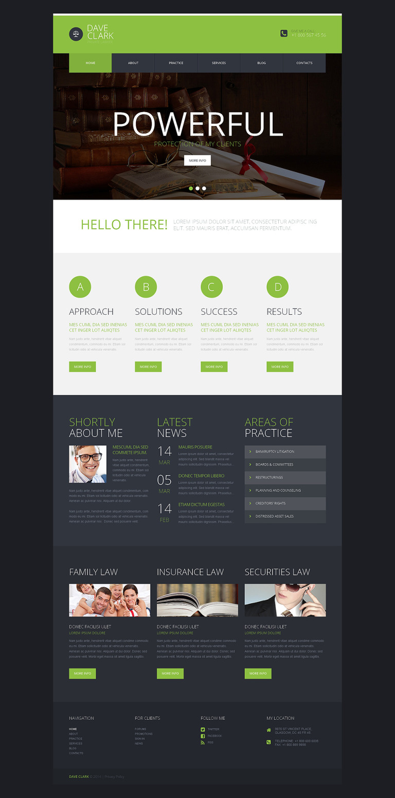Private Lawyer WordPress Theme New Screenshots BIG
