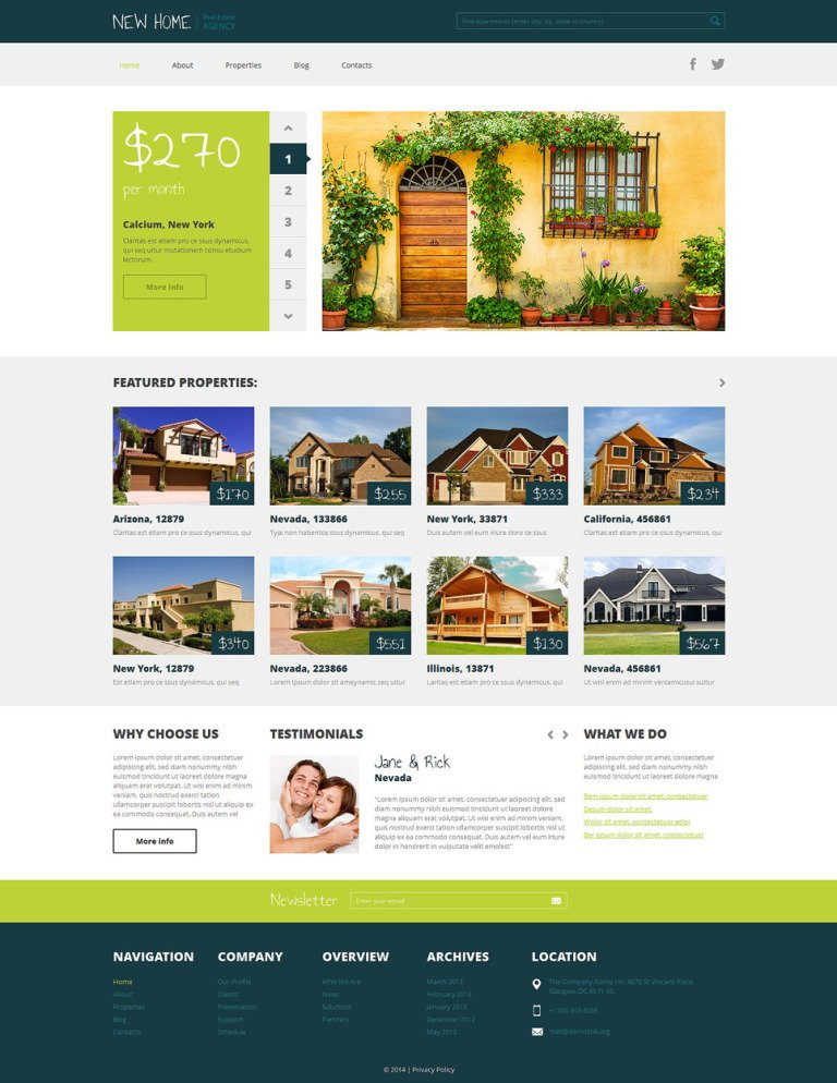 Real Estate Agency Responsive WordPress Theme New Screenshots BIG