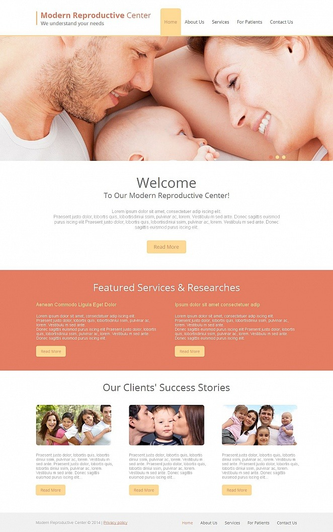 Reproduction Clinic Moto CMS HTML Template New Screenshots BIG