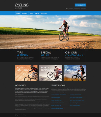 Responsywny motyw WordPress #49451 na temat: kolarstwo