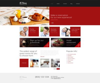 Responsywny motyw WordPress #49401 na temat: hotele