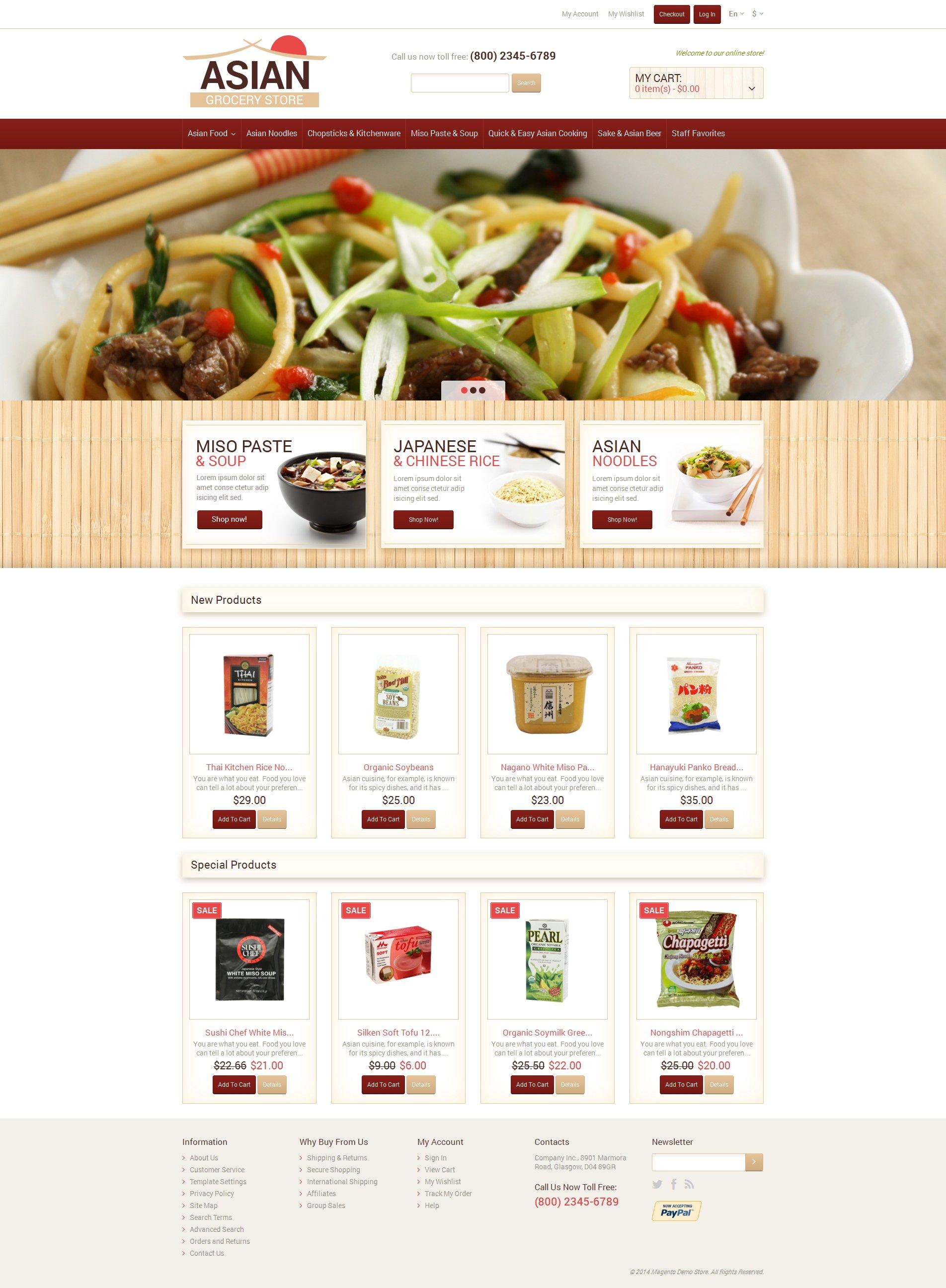 Responsywny szablon Magento Eastern Food Shop #49418