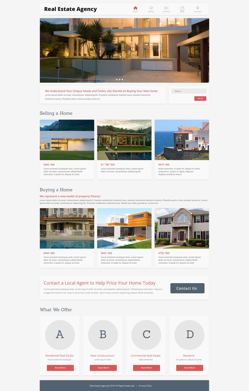 "Responzivní Joomla šablona ""Home Bureau"" #49487 - screenshot"