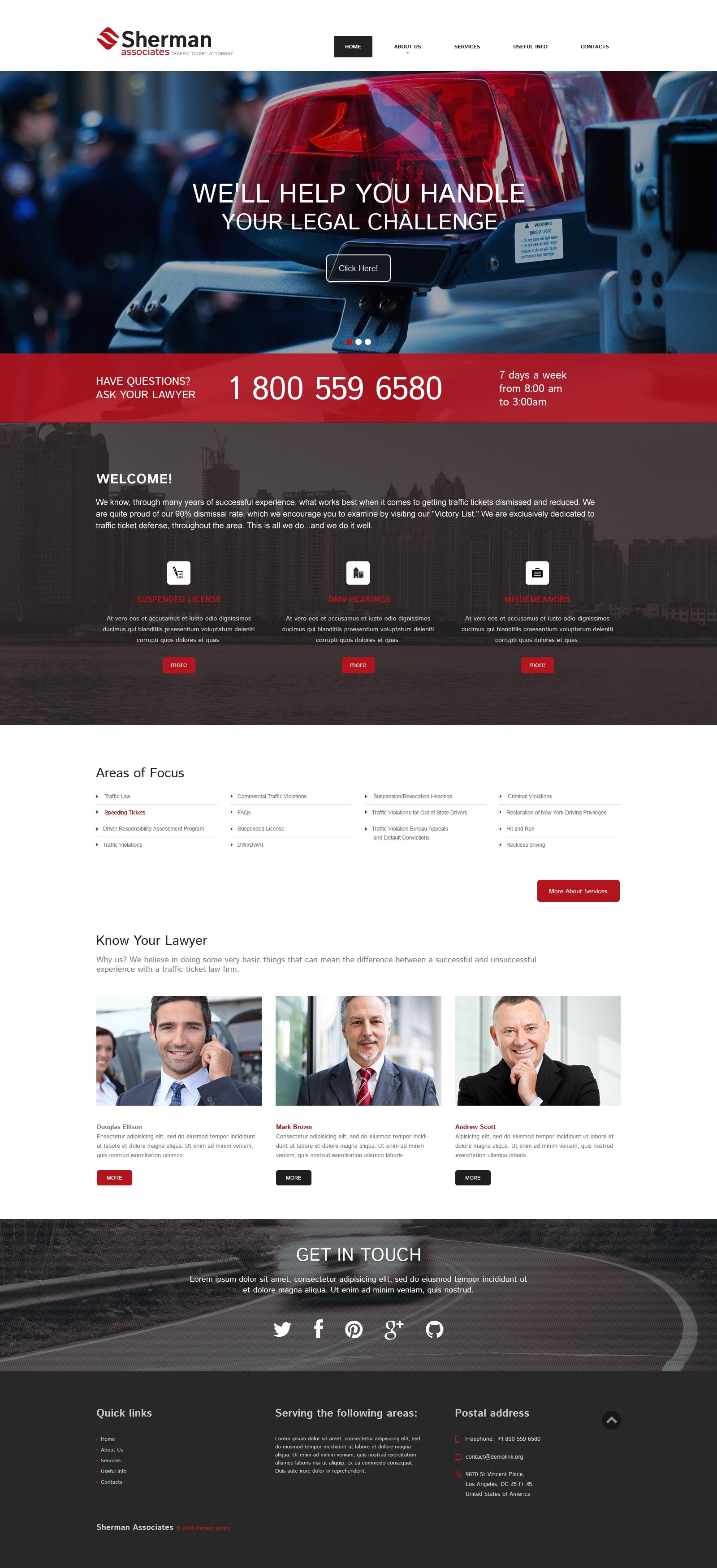 Responzivní Šablona webových stránek na téma Lawyer Templates #49408