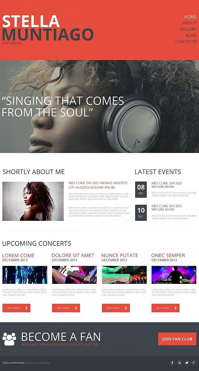 Singer Moto CMS HTML Template New Screenshots BIG