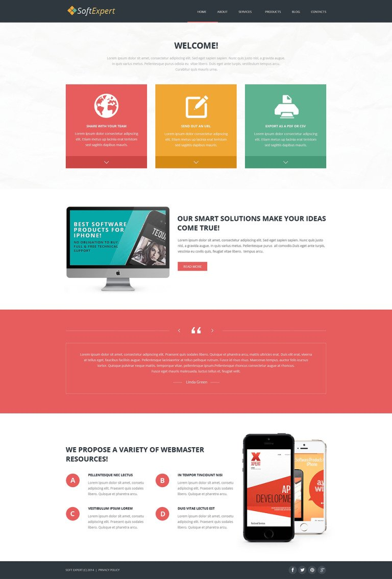 Soft Expert Joomla Template New Screenshots BIG