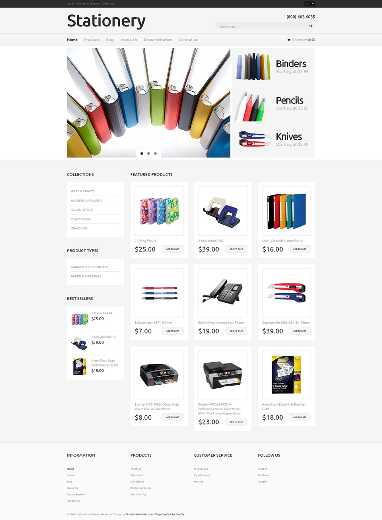 Stationery Responsive Shopify Theme New Screenshots BIG