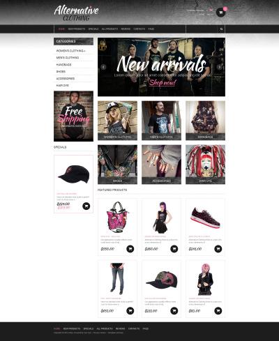 Szablon ZenCart #49472 na temat: odzież