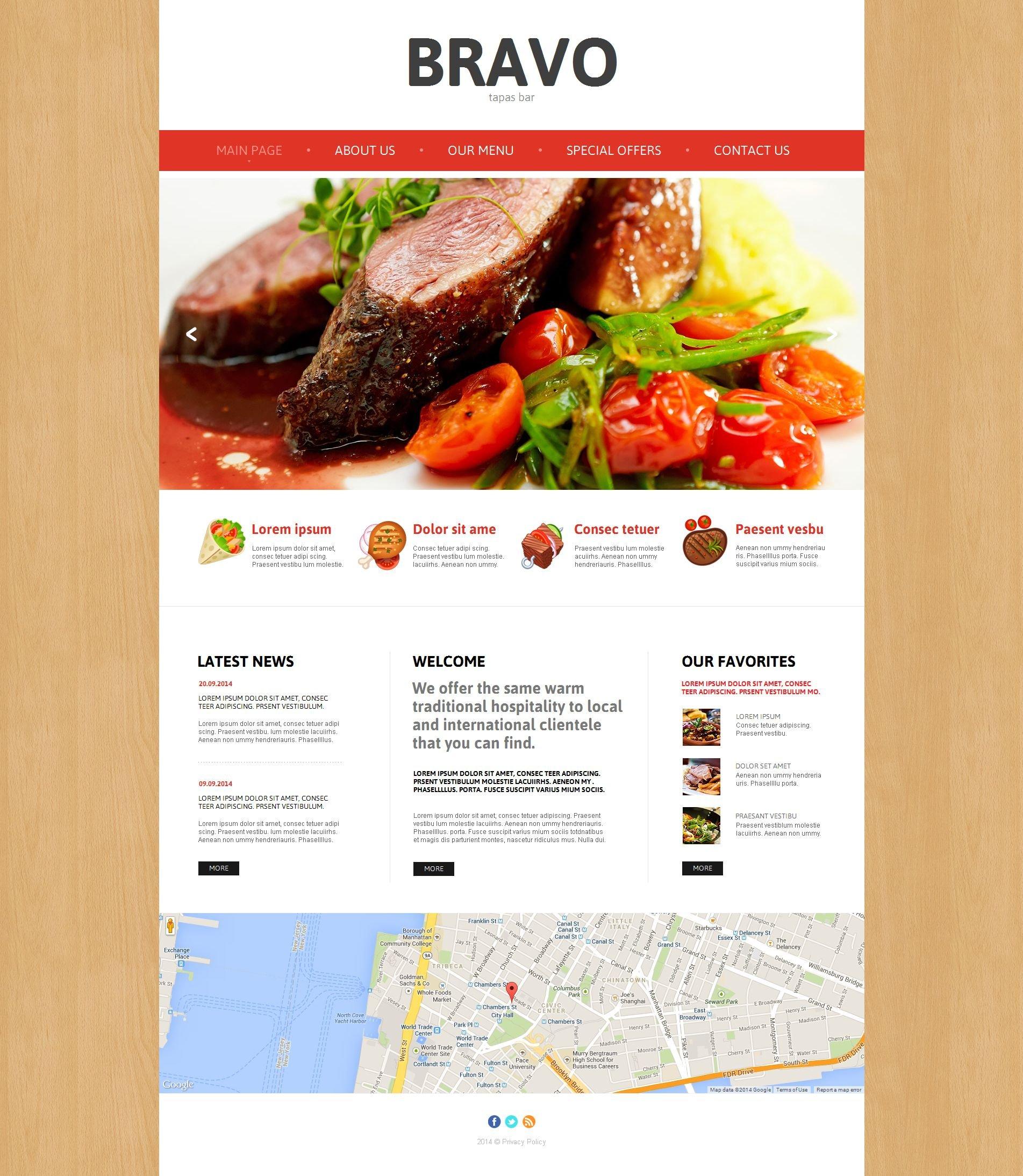 Tapas Restaurant Moto CMS HTML Template