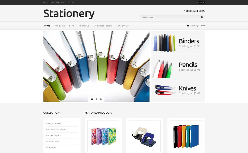 Tema de Shopify  Flexível para Sites de Papelaria №49415 New Screenshots BIG