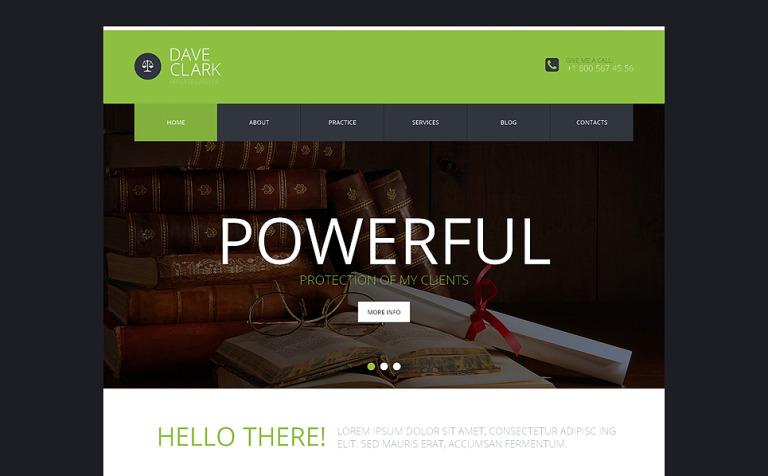 Tema de WordPress #49403 para Sitio de Abogados o licenciados
