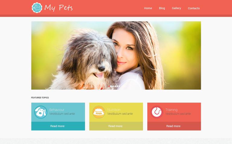 Tema de WordPress #49464 para Sitio de Tienda de Mascotas