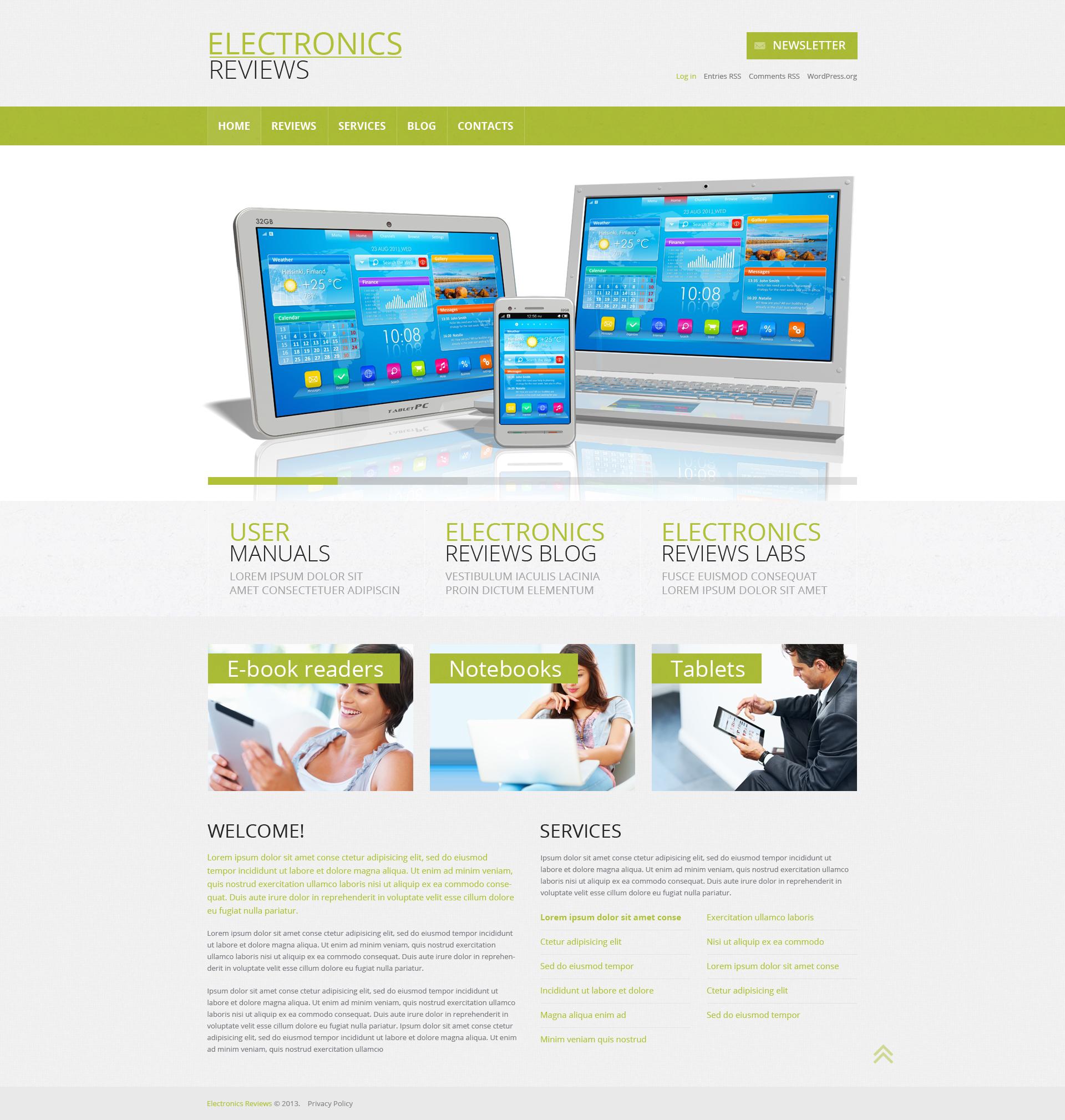Tema WordPress Responsive #49452 per Un Sito di Recensioni Elettronica
