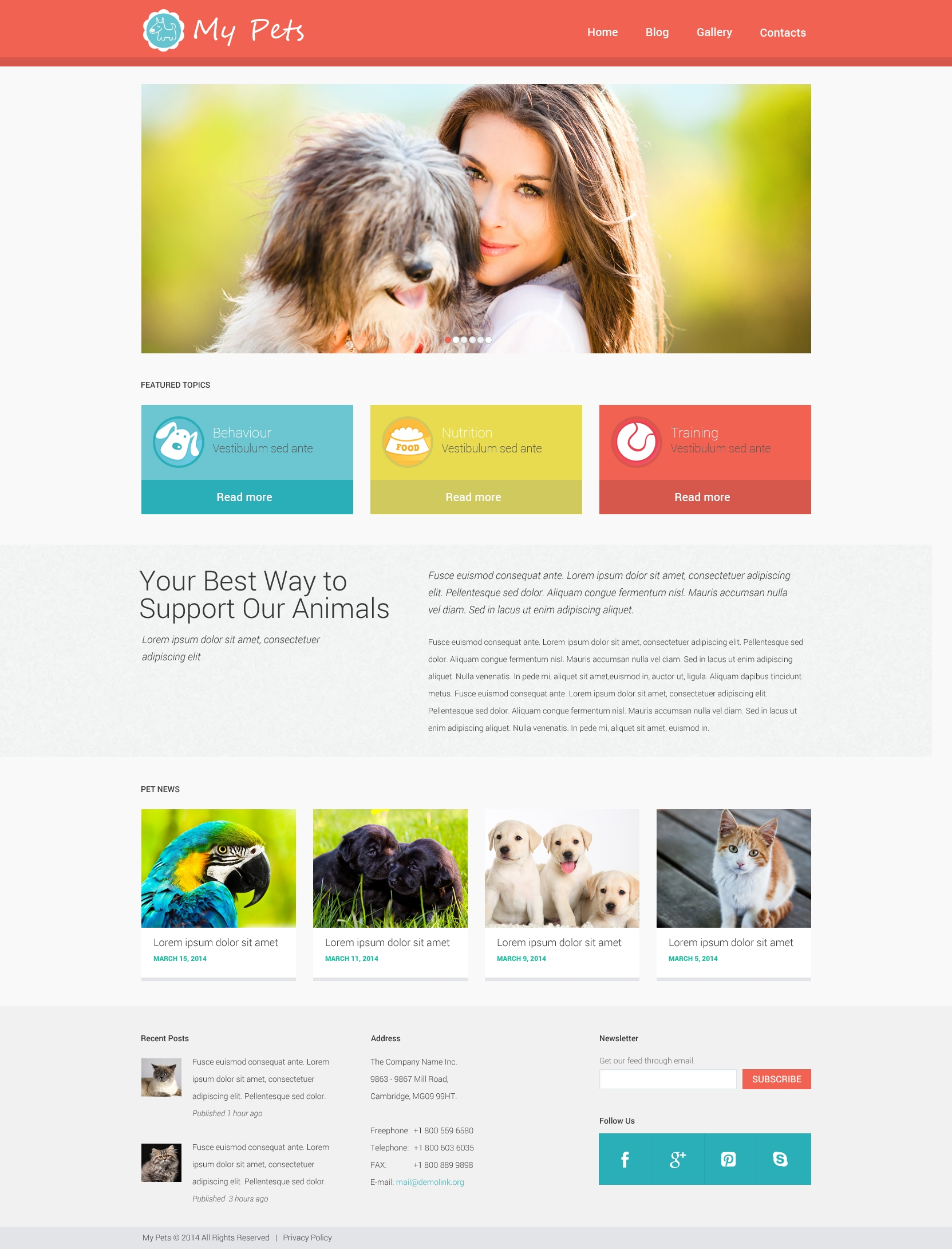 "Tema WordPress Responsive #49464 ""Animal Planet"""