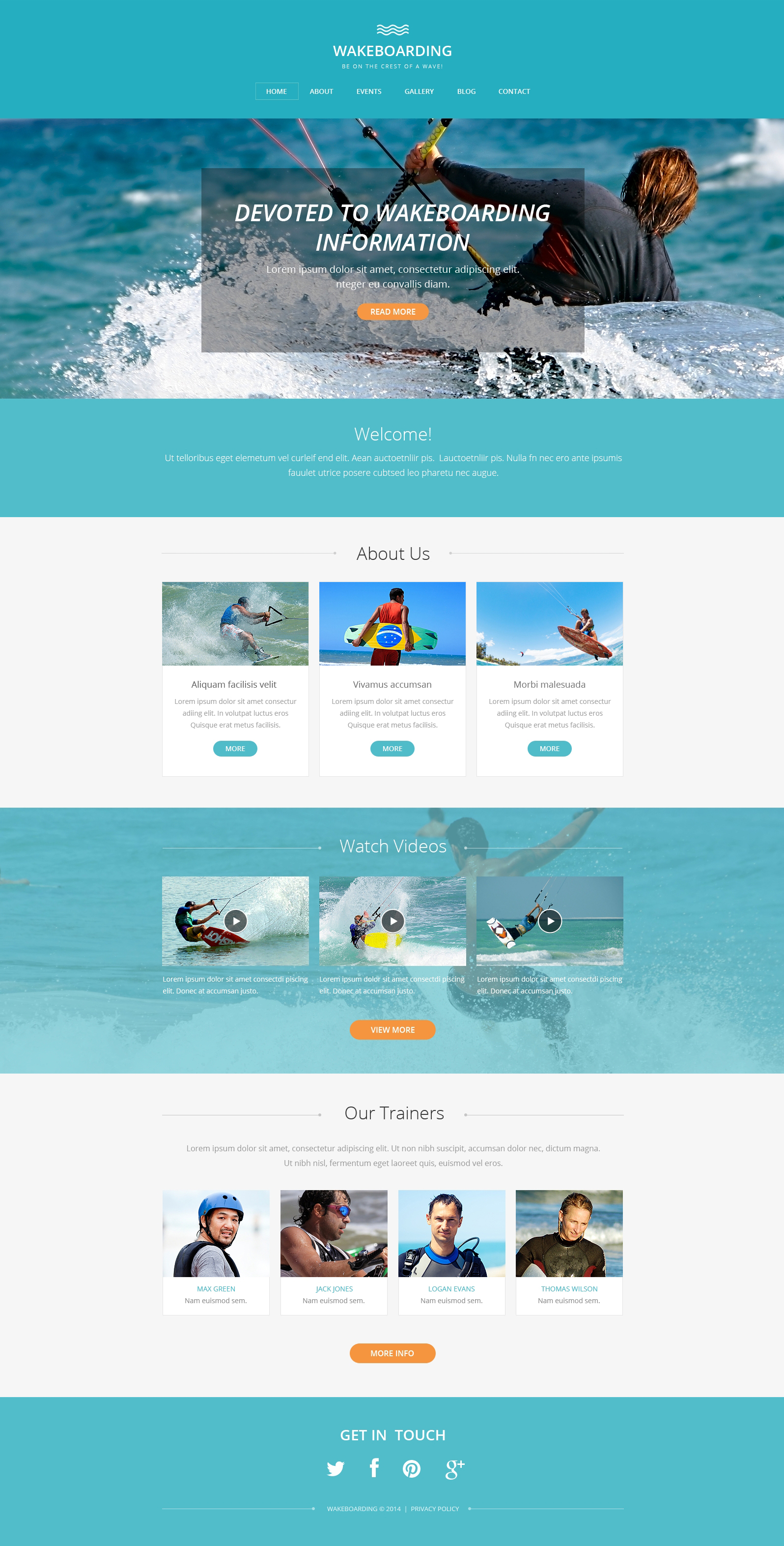 Template Drupal para Sites de Wakeboarding №49419
