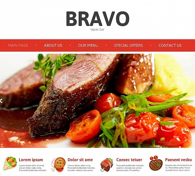 Template Moto CMS HTML para Sites de Tapas Restaurante №49435 New Screenshots BIG