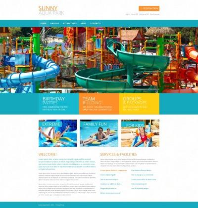 Thème WordPress adaptatif  pour site de parc d'attractions