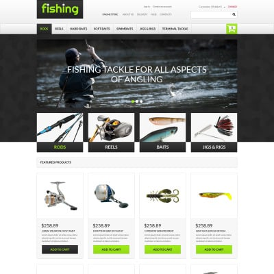 Fishing Responsive VirtueMart Template #62170