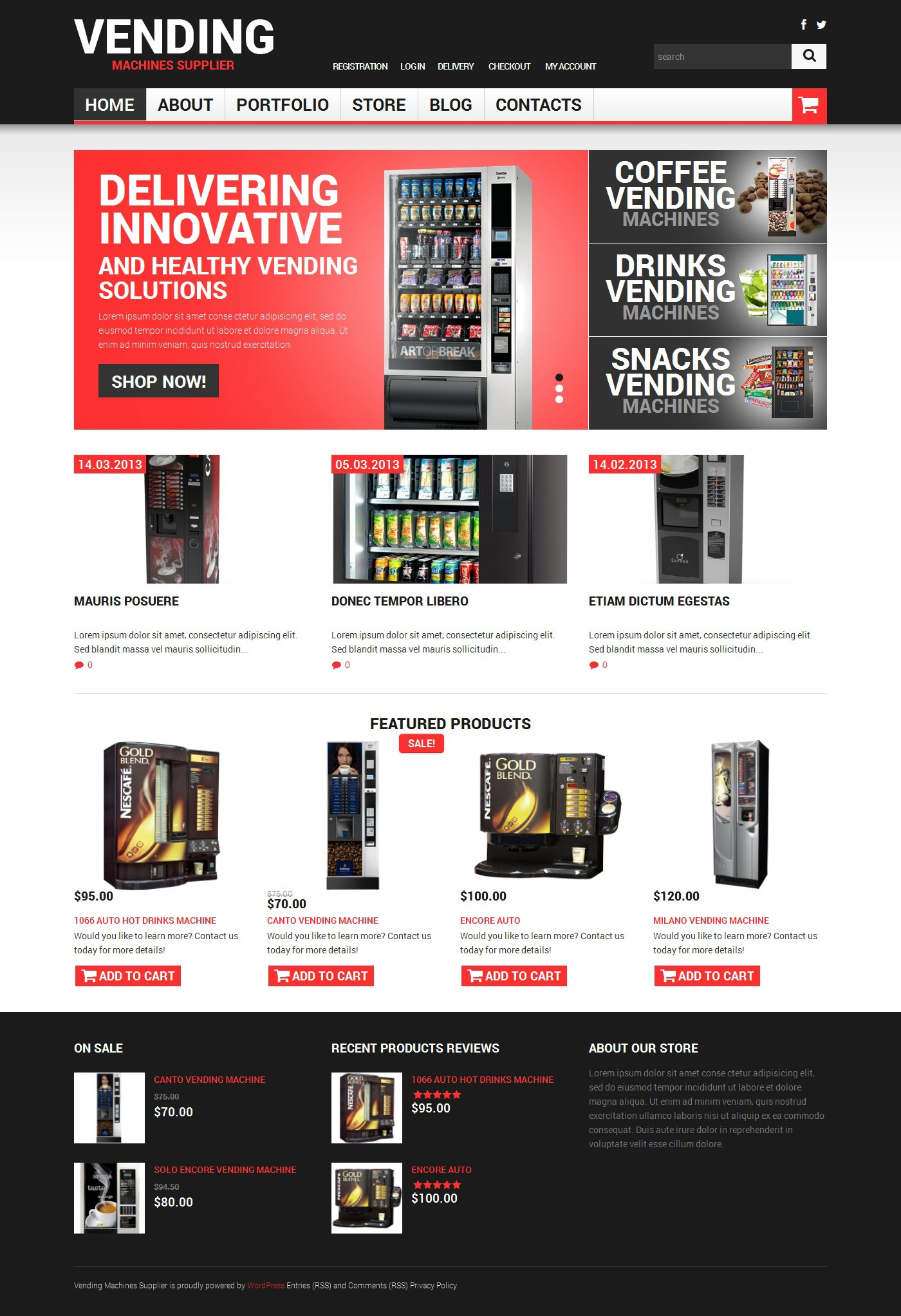 Vending Machines Responsive WooCommerce Theme - screenshot