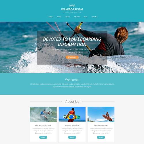 Wakeboarding - HTML5 Drupal Template