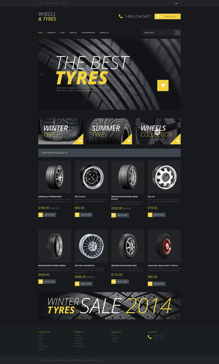 Wheels & Tires Responsive Shopify Theme New Screenshots BIG