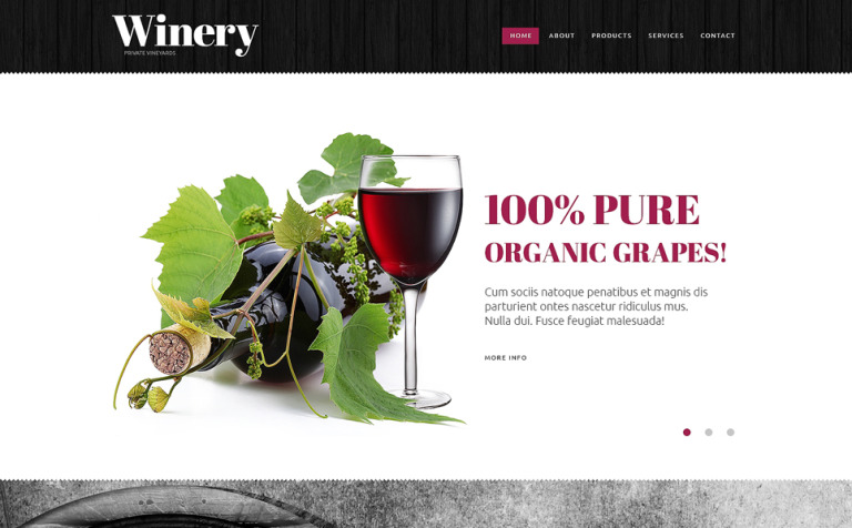 Winery Website Template New Screenshots