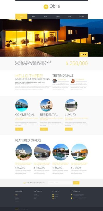 Адаптивный WordPress шаблон №49465 на тему агентство недвижимости