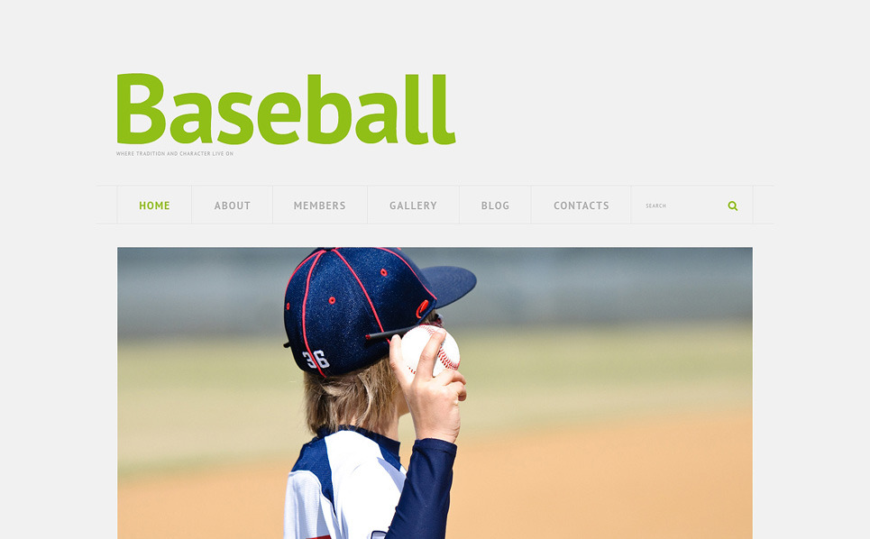Responzivní WordPress motiv na téma Baseball New Screenshots BIG