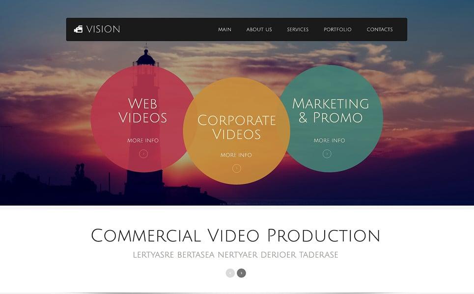 Адаптивний Шаблон сайту на тему відеооператор New Screenshots BIG