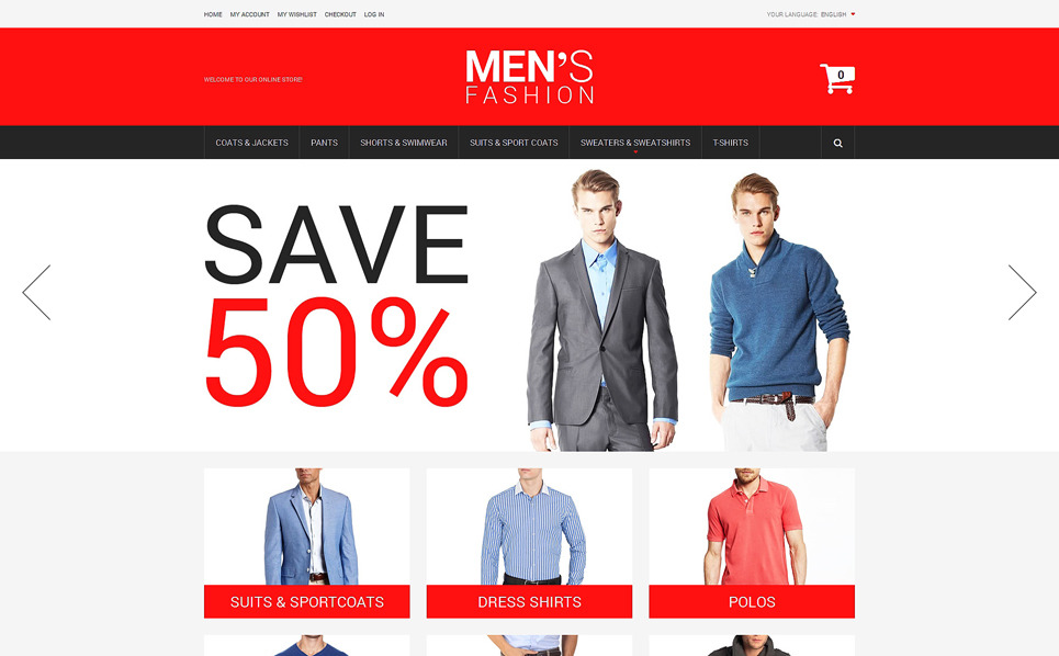 "Magento Theme namens ""Businessmode für Herren"" New Screenshots BIG"