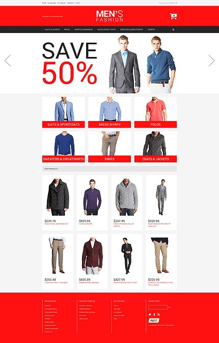 Magento Theme/Template 49521 Main Page Screenshot