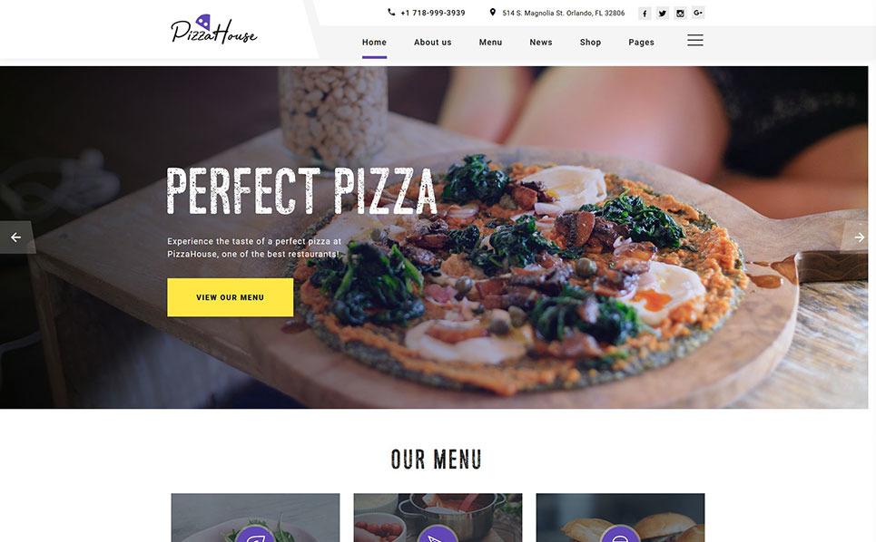 Bootstrap Šablona webových stránek na téma Pizzeria New Screenshots BIG