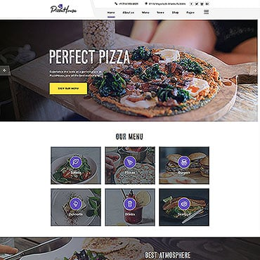Preview image of Pizza House Multipage HTML