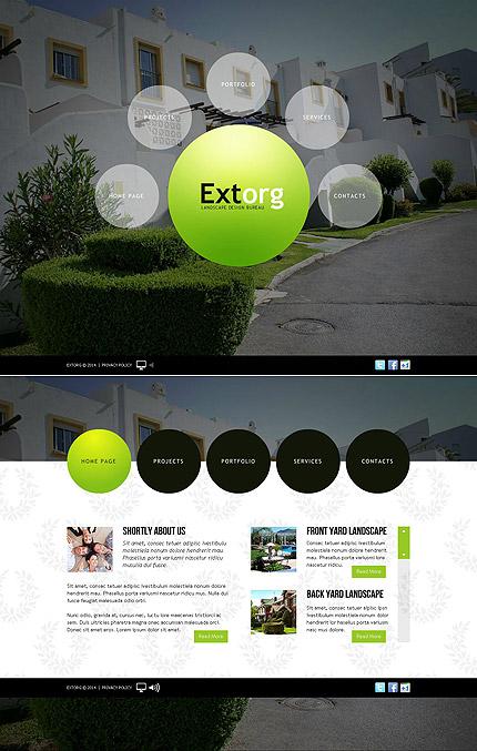 ADOBE Photoshop Template 49533 Home Page Screenshot