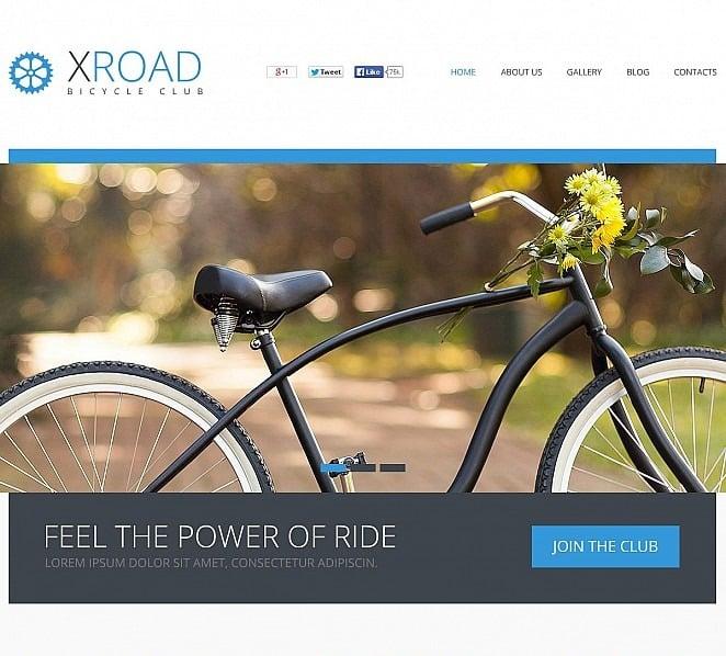 Modello Flash CMS  #49535 per Un Sito di Ciclismo New Screenshots BIG