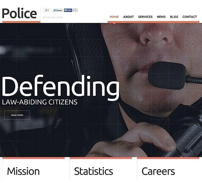 Premium Flash CMS Template over Politie New Screenshots BIG