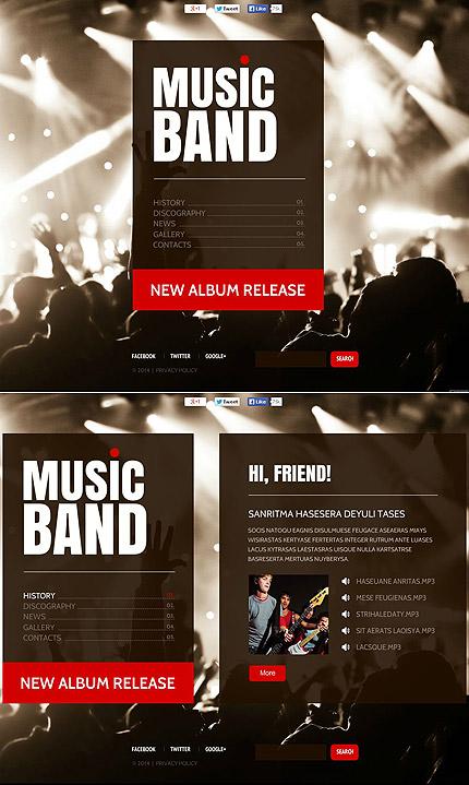 ADOBE Photoshop Template 49540 Home Page Screenshot