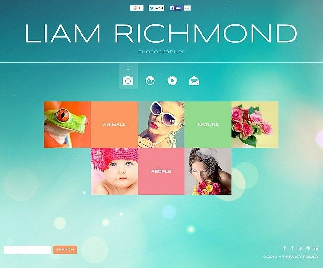 Szablon Flash CMS #49541 na temat: portfolio fotograficzne New Screenshots BIG