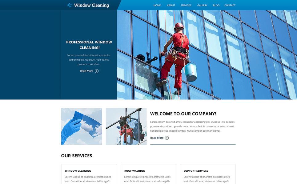 Responzivní Šablona webových stránek na téma Mytí oken New Screenshots BIG