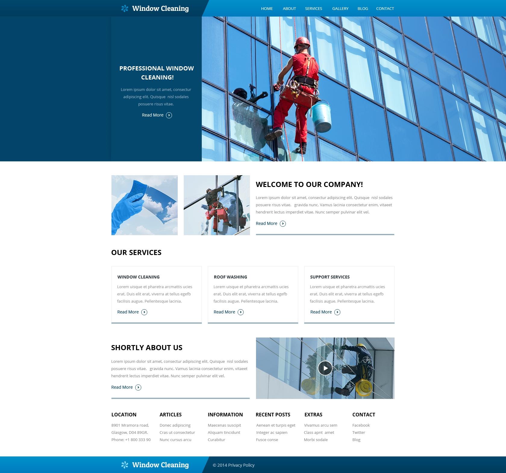 maintenance mode html template - maintenance services website template 49561
