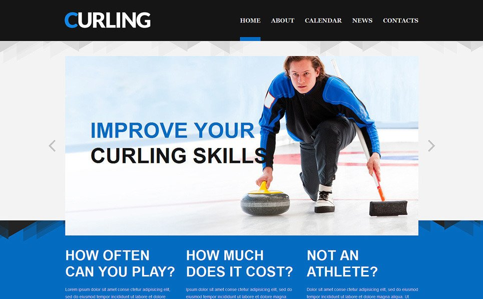 Responzivní Šablona webových stránek na téma Lední metaná, Curling New Screenshots BIG