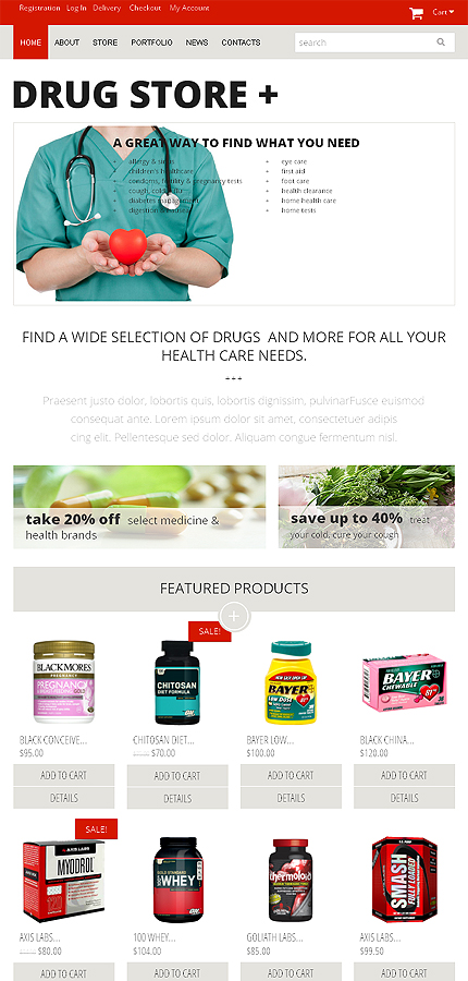ADOBE Photoshop Template 49566 Home Page Screenshot