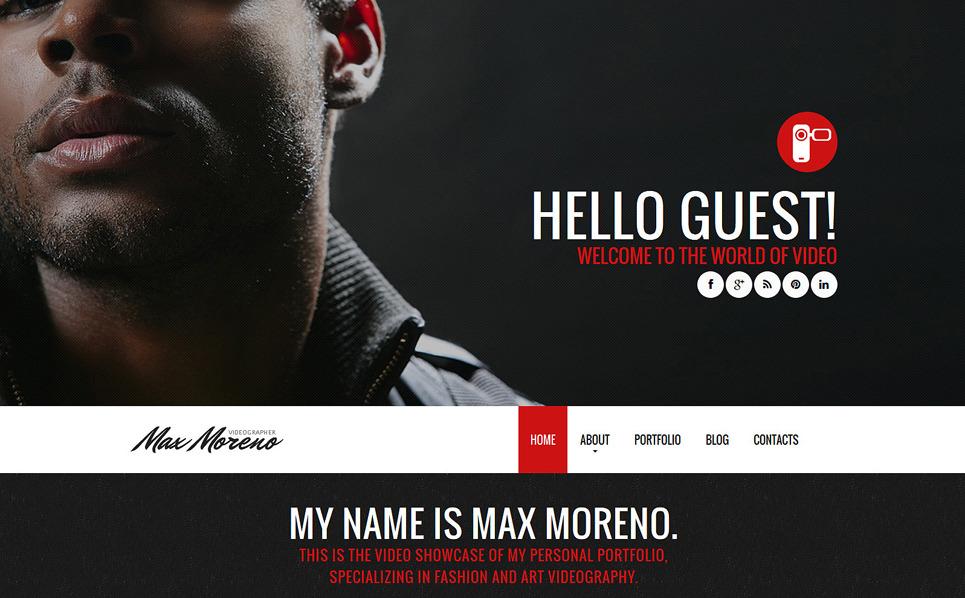 Plantilla Joomla Responsive para Sitio de Camarógrafo New Screenshots BIG