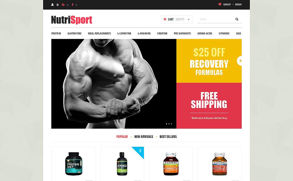 Responsive Beslenme Mağazası  Prestashop Teması New Screenshots BIG