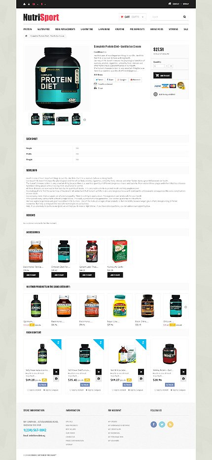 ADOBE Photoshop Template 49575 Home Page Screenshot