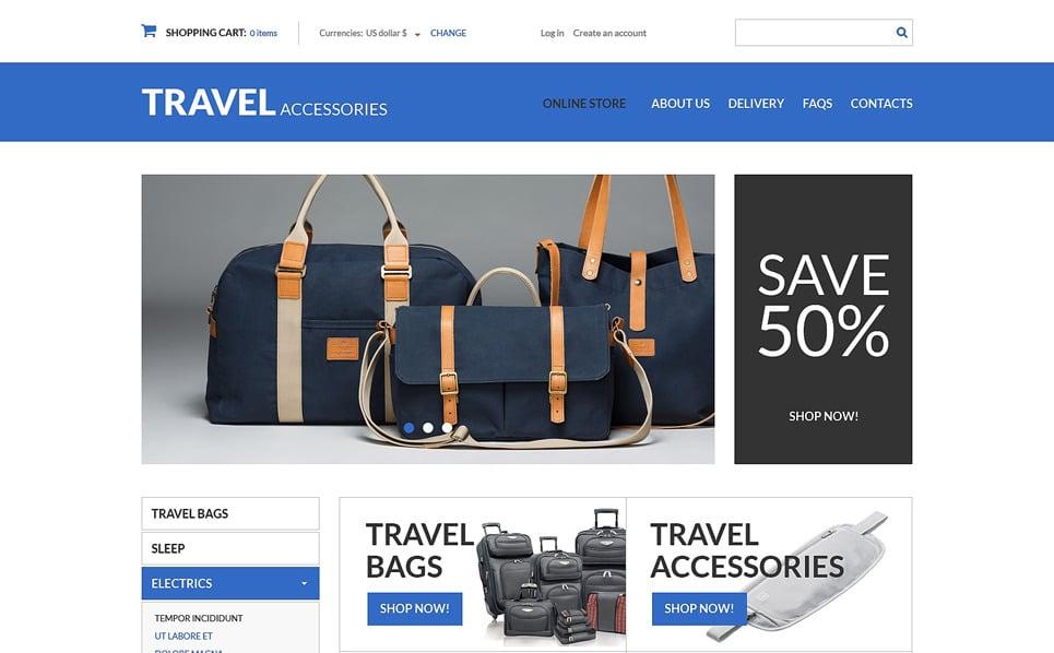 Szablon VirtueMart #49577 na temat: sklep podróżnika New Screenshots BIG