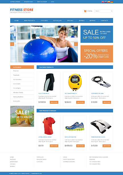 osCommerce Template 49578 Main Page Screenshot
